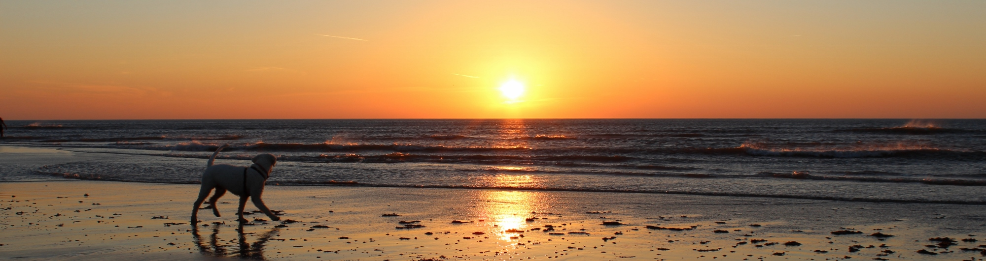 sunset at Dinas Dinlle