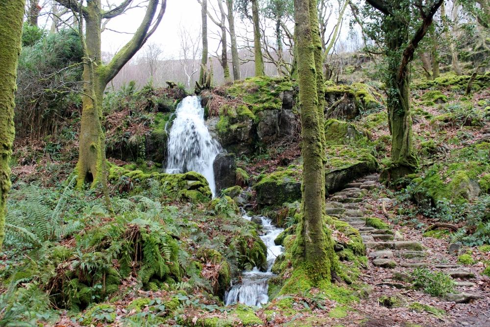 Craflwyn waterfalls