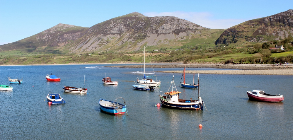 Boats in Trefor Harbour