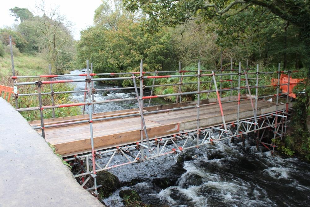 Footbridge during construction