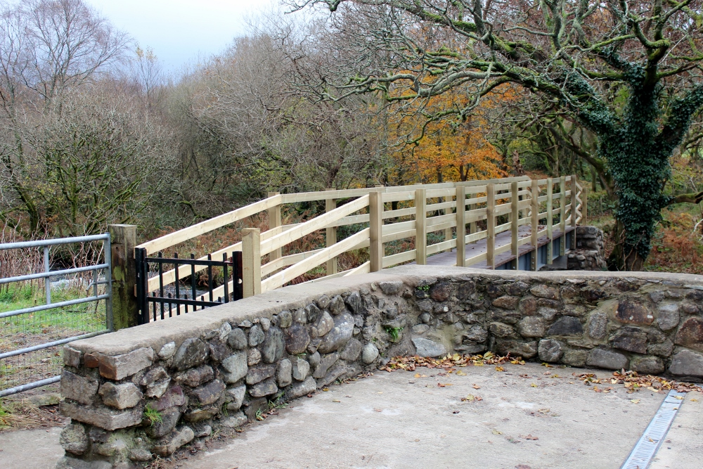 Completed footbridge